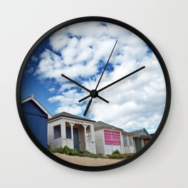 Beach huts Wall Clock
