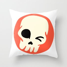 Funny Skull Throw Pillow