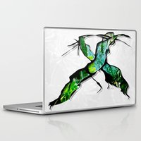 middle earth Laptop & iPad Skins featuring Meet in the Middle by Lani Harmony