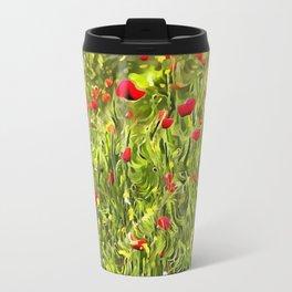 Surreal Hypnotic Poppies Travel Mug
