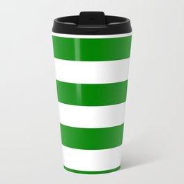 Horizontal stripes / green Travel Mug