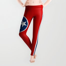 Flag of Tennessee - Authentic High Quality Image Leggings