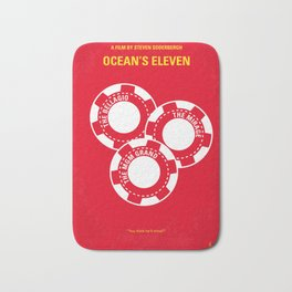 No056 My Oceans 11 minimal movie poster Bath Mat