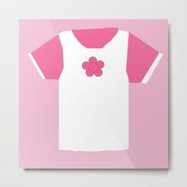 Pink Princess T-Shirt Metal Print