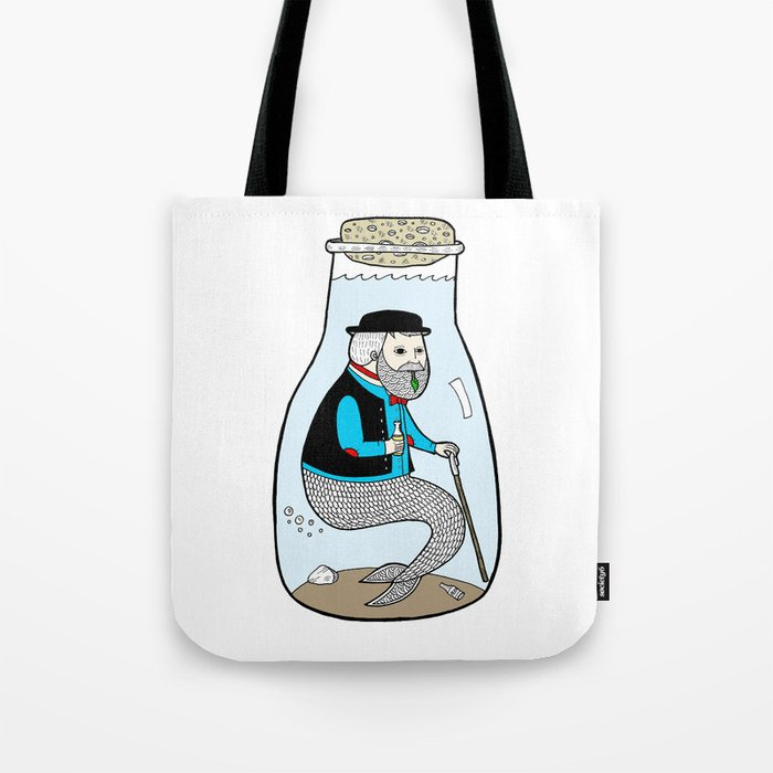 A Merman In Captivity Passing Gas In A Bottle  Tote Bag