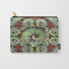 Escargot Begonias Abstract Carry-All Pouch