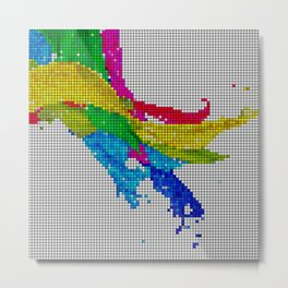 Colors - Computer Graphic Art Metal Print