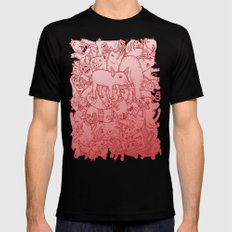 Pig Pile-Up! (splash-0-color edition) Mens Fitted Tee Black SMALL