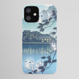 Kodama, Forest spirits vintage japanese woodblock mashup iPhone Case