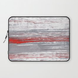 Red-gray abstract Laptop Sleeve