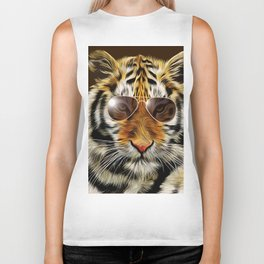 In the Eye of the Tiger Biker Tank