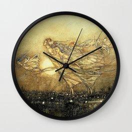 """Fairies in Kensington Gardens"" by Arthur Rackham Wall Clock"