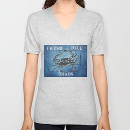 Fresh Blue Crabs Unisex V-Neck