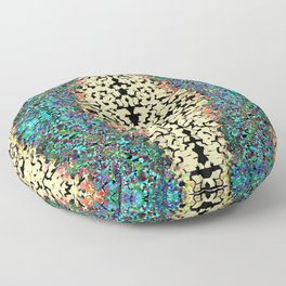 Color Chip Diamond Abstract Pattern Floor Pillow