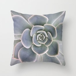 Succulent Leaf Close Up Photography | Plant | Cactus | Botanical Throw Pillow