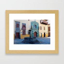 Gran Canaria's Old Town Vegueta Fountain Framed Art Print