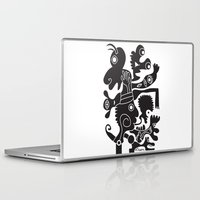tote bag Laptop & iPad Skins featuring Tote Um by Ray Moore