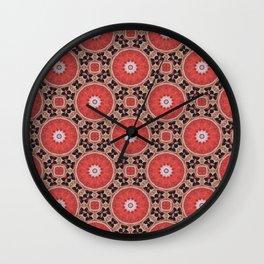 kalei naranja Wall Clock