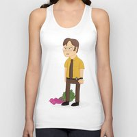 dwight schrute Tank Tops featuring Majestic Schrute Farms by gregmsna