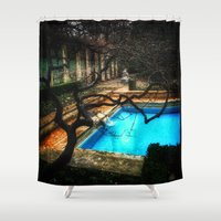 milan Shower Curtains featuring milan pool by chicco montanari