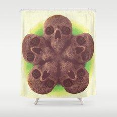 Skull Mandala Test No.1 Shower Curtain