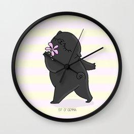 VIRGO PUG Wall Clock