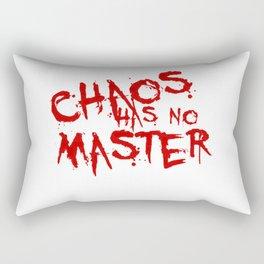 Chaos Has No Master Blood Red Graffiti Text Rectangular Pillow