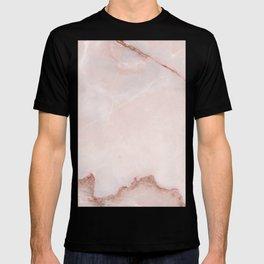 Natural blush pink marble T-shirt