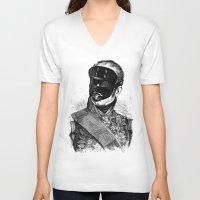 bdsm V-neck T-shirts featuring BDSM XXVIII by DIVIDUS