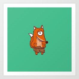 Cyclope Fox Art Print