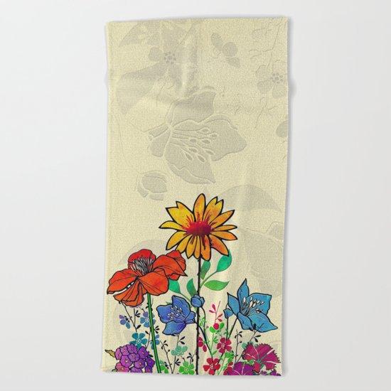 Flower Tales 5 Beach Towel
