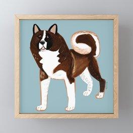 American Akita Framed Mini Art Print