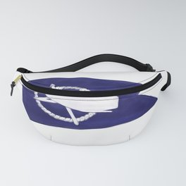 Nantucket Blue and White Sperm Whale Burgee Flag Hand-Painted Fanny Pack