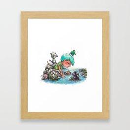 By the River's Edge Framed Art Print