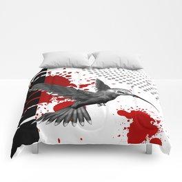 Trash Polka Flying Hummingbird Geometric Shapes Comforters