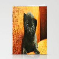 kitten Stationery Cards featuring kitten by Bar Morrison