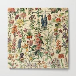Adolphe Millot- Fleurs Metal Print