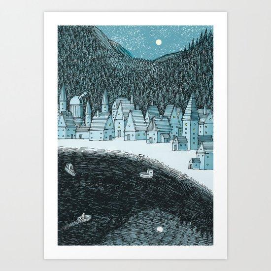 'Mountain Town' Art Print