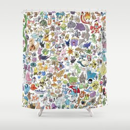 Monsters Character Shower Curtain