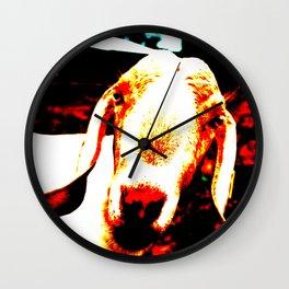 Abstract Goat Wall Clock