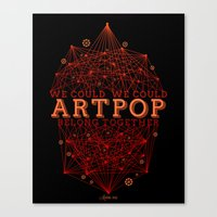 artpop Canvas Prints featuring Artpop by Mario Ezquerra