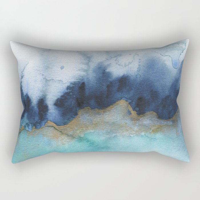 Mystic abstract watercolor Rectangular Pillow