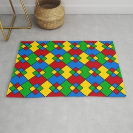 Phillip Gallant Media Design - Red, Blue, Green, And Yellow Design II Rug