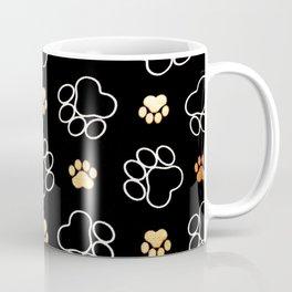 dog pawprint tracks background pet Coffee Mug