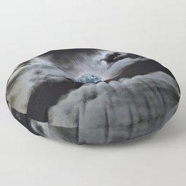 Blue Moon I Wonder Floor Pillow