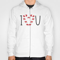 I Love You - Candy Canes Heart Hoody