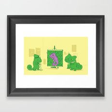 Uncovering the Problem Framed Art Print