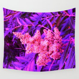 Pink and Blue Sideways Sumac Wall Tapestry