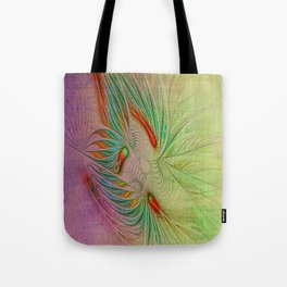 Two Tone Frac Abstract Tote Bag