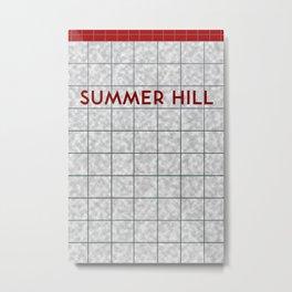 SUMMER HILL | Subway Station Metal Print